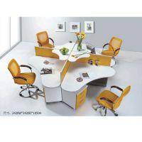 广州广时杰GSJ-11办公家具 4人位时尚办公桌 屏风卡位 新款圆形电脑桌职员桌