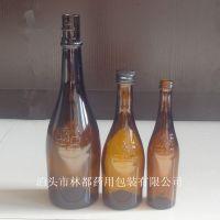 北京二锅头一担粮棕色玻璃酒瓶