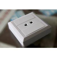 (二孔)插座 ABS明装系列厂家直销批发墙壁开关插座二极插座