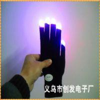 发光手套 led发光手套发光效果精美时尚吸引眼球品优价廉厂家直销