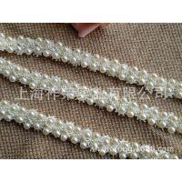 [厂家直销]蕾丝钉珠花边 手工珠绣花边 珍珠串珠花边 珠片绣花边