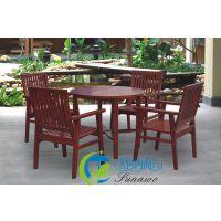 武汉售实木桌椅 售楼部4椅1桌户外实木桌椅 阳台户外椅子
