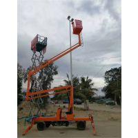 航天曲臂式升降机 14米柴油动力液压高空作业平台 可移动式升降车