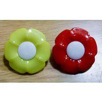 双拼太阳花塑料儿童卡通扣   组合扣   塑料纽扣  六叶花纽扣