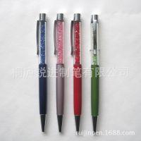 桐庐工厂热卖***精品金属水晶圆珠笔,商务礼品馈赠水钻原子笔