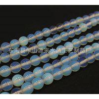 天然水晶批发 蛋白石散珠半成品圆珠 12mm 手链 项链 饰品