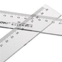 得力文具6230学生直尺 高档有机塑料尺子 30CM刻度尺 办公仪尺