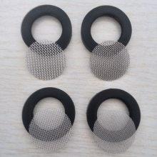 YF0918软管过滤网垫片4分硅胶包边滤网垫片304不锈钢网40目