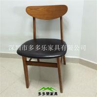 简约餐厅茶餐厅|奶茶店实木椅子 咖啡店经典实木餐椅批发厂家