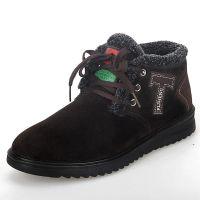 批发老北京布鞋 时尚保暖鞋防滑透气系带休闲鞋套脚男士保暖棉鞋
