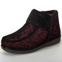 冬季新款老北京布鞋 女士棉鞋中老人保暖鞋高帮防滑加厚棉鞋批发