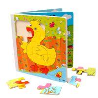 巧玲珑木质玩具拼图木书拼板早教玩具