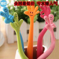 韩版创意文具 可弯曲表情手指笔 手势手型笔 圆珠笔 批发