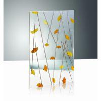 艺术背景墙树脂装饰板厂家批发植物纹理透光板批发