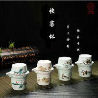 便携式快客杯 旅行茶具套装 陶瓷功夫茶具 创意礼品茶具