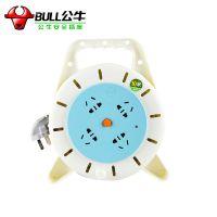 公牛 GN-802 10M 公牛电缆卷盘3*0.75平方4插孔 ***
