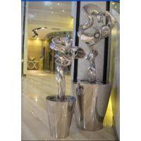 室内不锈钢雕塑摆件、软装饰品摆件、深圳软装雕塑摆件厂家