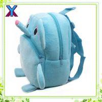供应儿童幼小毛绒卡通大象书包 学前班儿童书包 小女孩双肩背包