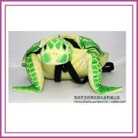 超萌儿童书包幼儿园 可爱卡通双肩包 男女童乌龟包毛绒公仔