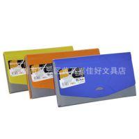 票据风琴包B6方格纹6层彩色事务包收纳文件包资料包办公用品 文具
