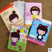 E304 韩国小女孩笔记本 批发卡通韩国笔记本 记事本