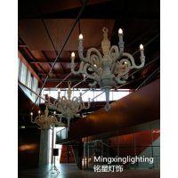 供应浪漫之约系列现代吊灯 树脂蜡烛灯吊灯 酒店客厅烂漫吊灯铭星批发