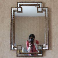 新古典美式北欧装饰镜玄关镜化妆镜壁饰挂镜浴室镜子卫浴梳妆镜子