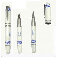 厂家直销青花瓷笔 中国京剧脸谱青花瓷钢笔 脸谱陶瓷笔 瓷器钢笔