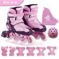 广东轮溜冰鞋厂家批发 雄风XF A3儿童滑冰鞋 913猎豹一体铝架男女儿童透气可调儿童溜冰鞋旱冰鞋