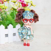 上架 可爱毛绒玩具公仔迷糊娃娃挂件 精品纽扣花裙眼镜美少女