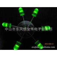 [厂家疯卖]F5mm圆头散光绿发绿指示灯LED发光二极管 短脚有边高亮