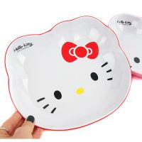 HELLO KITTY猫头密胺盘子日韩卡通餐具