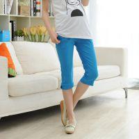 韩国孕妇装中裤休闲时尚修身七分裤 孕妇拖腹打底裤 弹力小脚裤