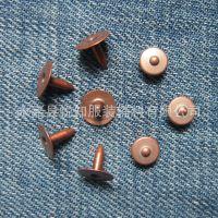 厂家直销红古铜7mm牛仔裤凸珠衣角钉口袋钉铆钉、撞钉 环保过检针