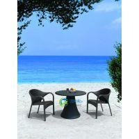 广州舒纳和户外家具厂定制 编藤桌椅、仿藤桌椅