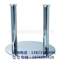 厂家特销 不锈钢桌脚台脚 配铝饼双管栯圆形不锈钢底盘批发