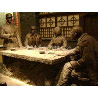 供应博物馆场景雕塑制作 玻璃钢仿铜雕塑制作-北京大圣