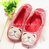 春夏可爱猫咪小兔月子鞋孕妇鞋子产妇家居家拖鞋布鞋软底包跟防滑