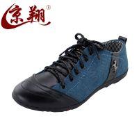 杭州总代老北京布鞋休闲鞋男鞋韩版透气皮鞋板鞋英伦流行鞋男潮鞋