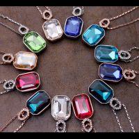 水晶项链批发定做 奥地利水晶短款锁骨吊坠项链-满庭芬芳H4615-86