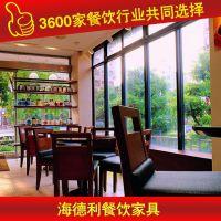 物美价廉 优惠水曲柳餐桌 玻璃桌子 厂家专业定做 深圳海德利家具 专业餐饮家具定制