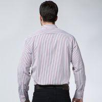 男士秋冬新款长袖衬衫 中高档条纹衬衫 男式商务正装衬衣