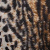 斑马纹短毛绒印花 豹纹剪毛绒印花 绒布印花