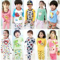 儿童全棉家居服童套装15春款多花色童内衣套装韩版外贸童装批发