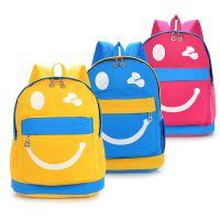 新款幼儿园学生包笑脸帆布双肩包 韩版书包旅游潮背包