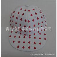 2015韩shinee红桃扑克牌平沿嘻哈刺绣棒球帽子夏天韩版男女士情侣