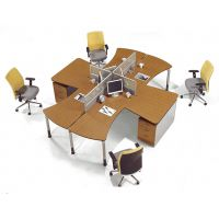 供应简约办公家具两人位办公桌椅职员桌组合员工桌屏风工作位电脑桌