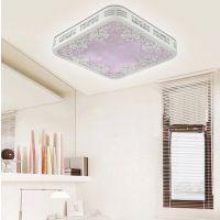 九科创意led客厅灯长方形大气吸顶灯卧室灯遥控三色光可调光灯具