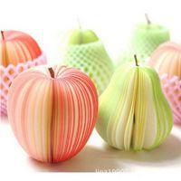 韩国文具创意水果便签本/红苹果便签纸/青梨子便签条 便利贴纸
