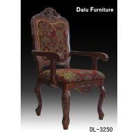 实木餐椅/酒店餐椅/欧式餐椅/实木板凳/饭店椅子/贴金箔 扶手